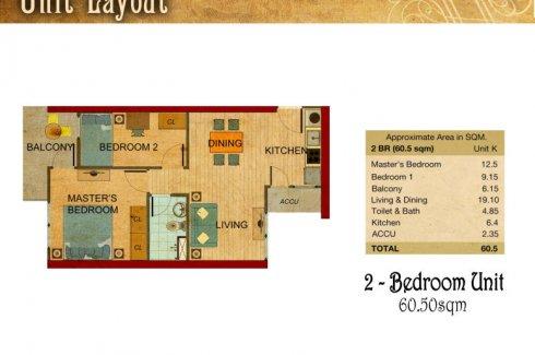 2 Bedroom Condo For Sale In La Nobleza Terrazas Manila Metro Manila