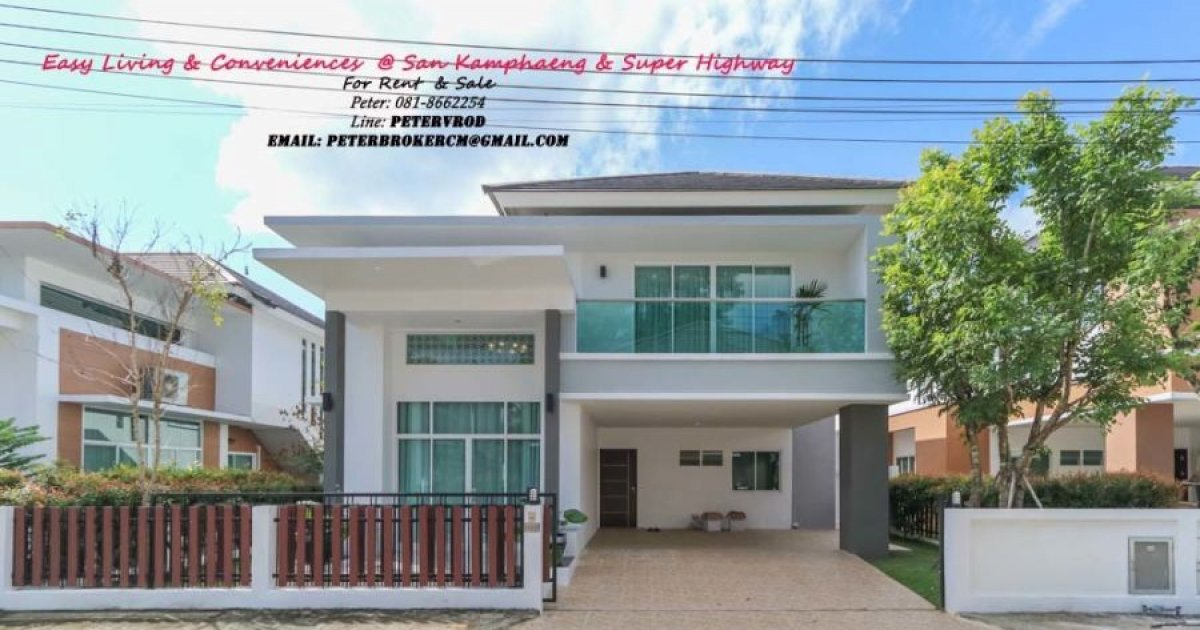 4 Bed House For Rent In Nong Pa Khrang, Mueang Chiang Mai