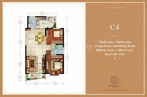 2 Bedroom Condo for sale in GOLDEN CITY, Yankin, Yangon