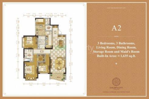 3 Bedroom Condo for sale in GOLDEN CITY, Yankin, Yangon
